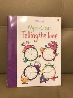 Usborne wipe- clean 學時鐘 ( clock ) telling the time 可擦