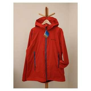 【Columbia Chelm Jacket PM3333】哥倫比亞男款-Omin-Shield輕量防潑水風衣外套-亮紅