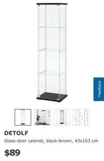 IKEA Detolf Glass Cabinet