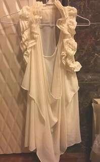 🚚 白色無袖