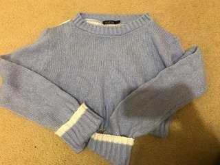 Boohoo knit sweater crop