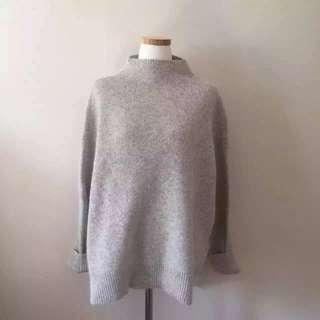Angola Rabbit hair sweater grey