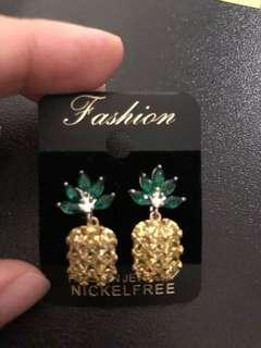 #APR10 Clip earrings pineapples