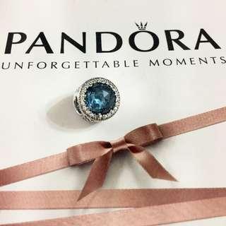 Pandora 藍色 bling bling 大眼仔