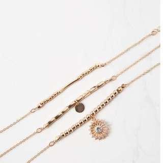 cotton on valetta gold bracelet