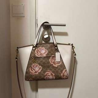 🚚 Coach Signature Print with Flowers Bag
