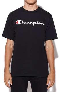 UNISEX BLACK CHAMPION TEE