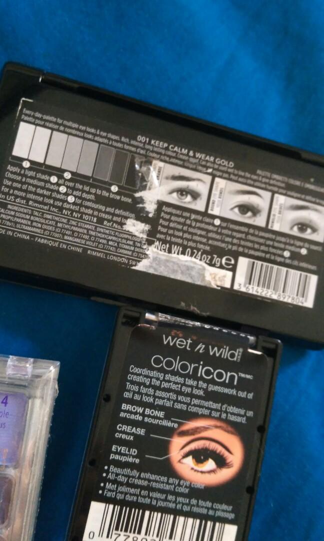 $3 eyeshadow palettes wet n wild rimmel #swapAU