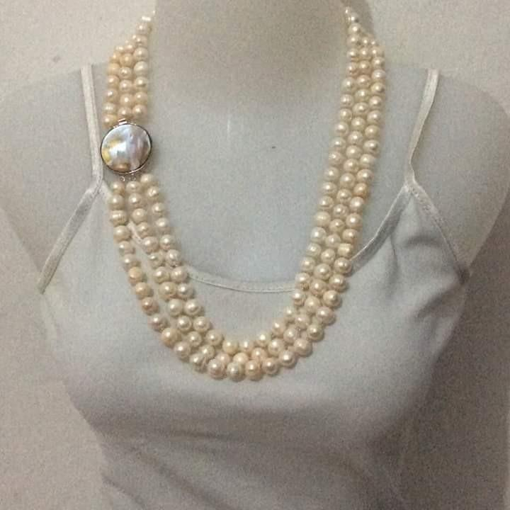 3 in 1 fresh water pearl Necklace