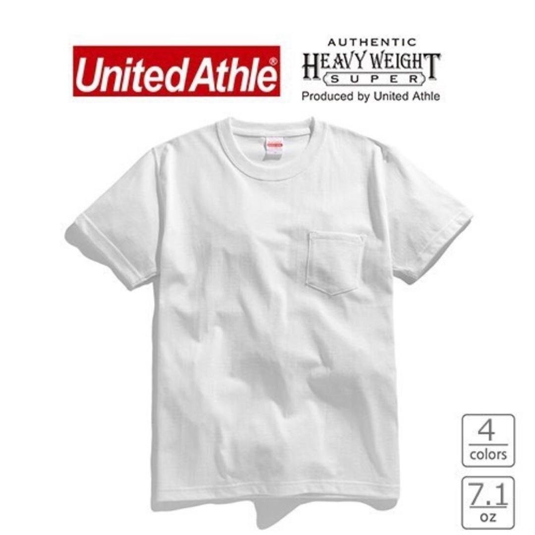 日本 United Athle UA4253 重磅 口袋短T 素Tee 7.1 Oz