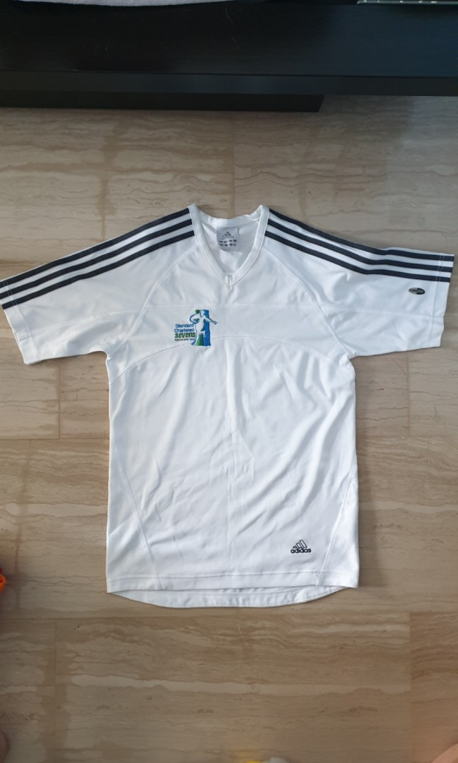 51f8d2cfaeb Adidas Rugby Sevens Shirt, Sports, Sports Apparel on Carousell