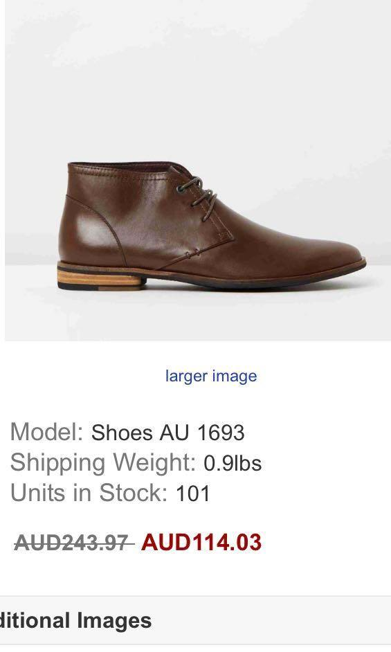 9510327b681 Aquila Brown ankle boots, Men's Fashion, Footwear, Boots on Carousell