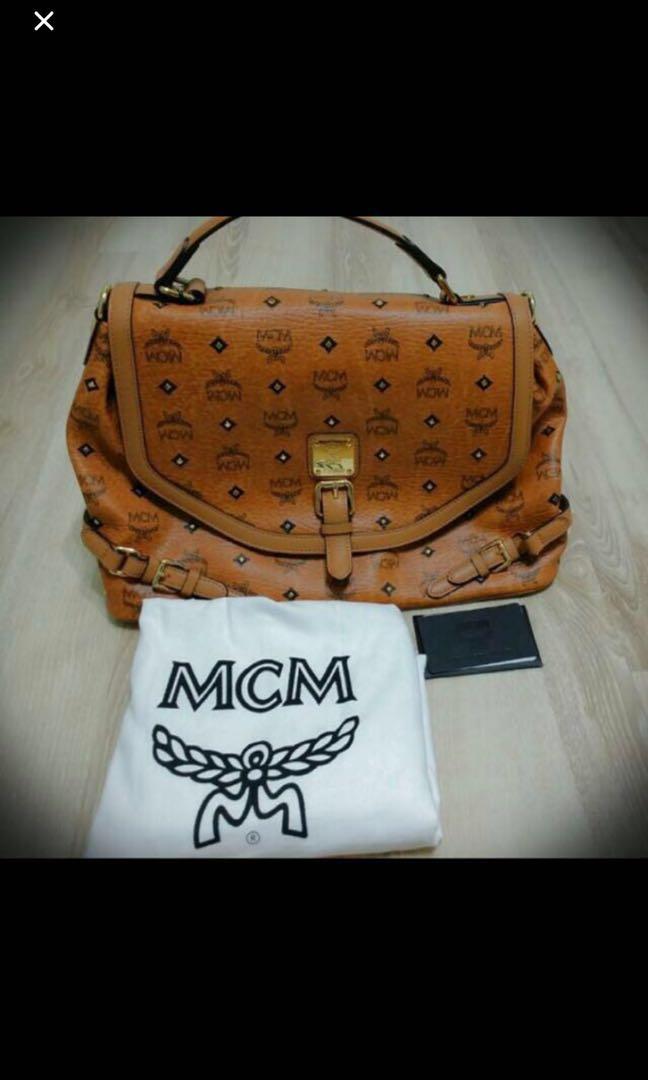 a7cdde15d Authentic MCM Bag👉🏻Quick deal $500 let go, Women's Fashion, Bags ...
