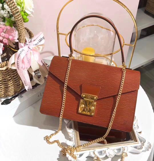 Authentic Pre-loved Louis Vuitton Epi Leather Top Handle Bag (Free Chain Strap)