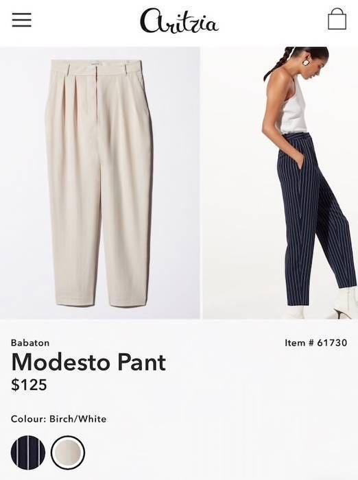 Babaton / Aritzia Modesto Pant size 00(FIRM PRICE)