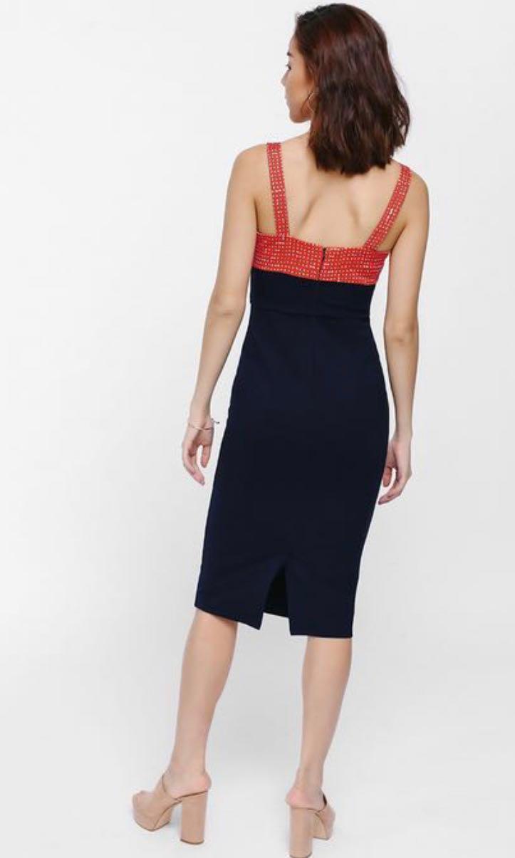 Barryn Printed Contrast Bodycon Dress