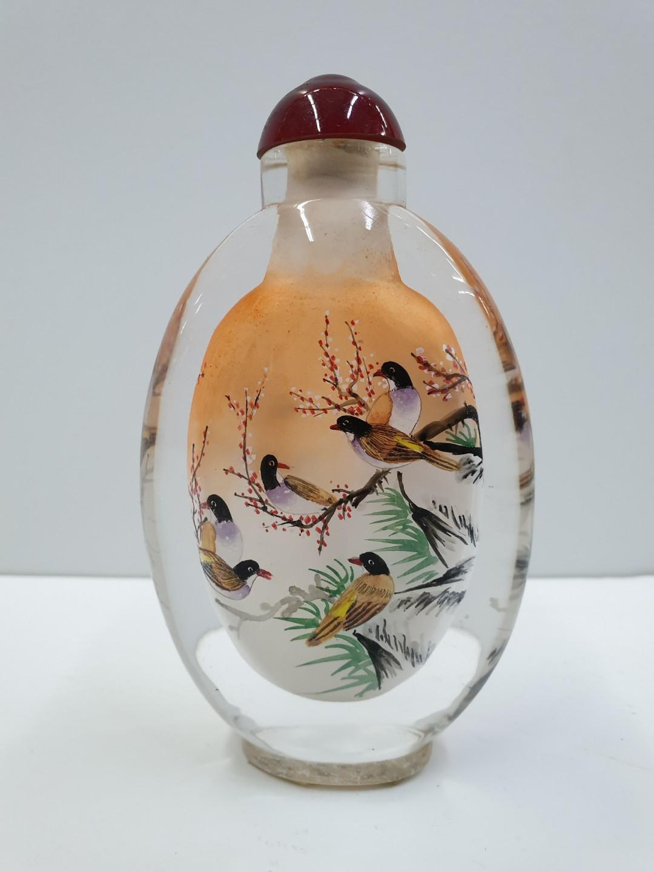Bird Painting Snuff Bottle Vintage Collectibles Vintage Collectibles On Carousell