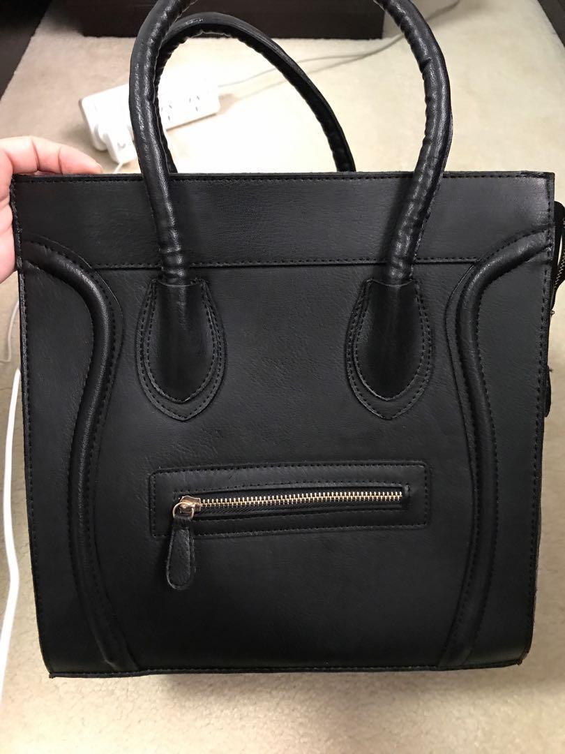 Black Celine Style Bag