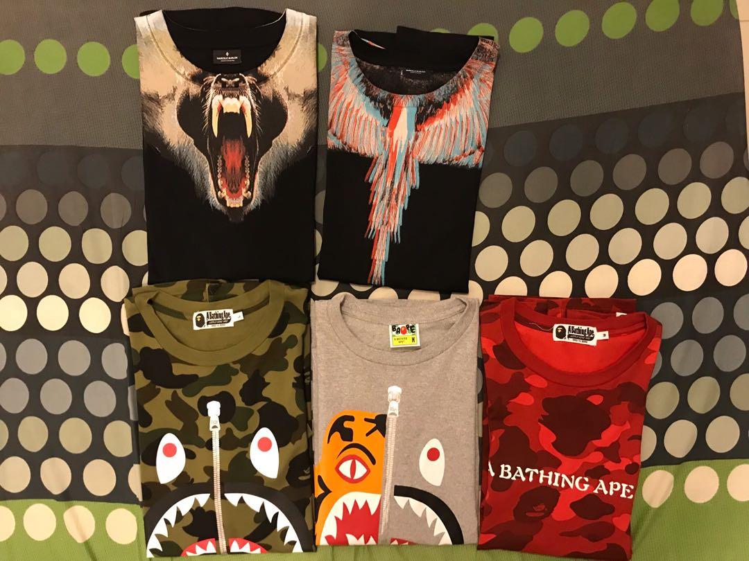 88849753d Branded Shirt BAPE , Marcelo Burlon, Men's Fashion, Clothes, Tops on ...