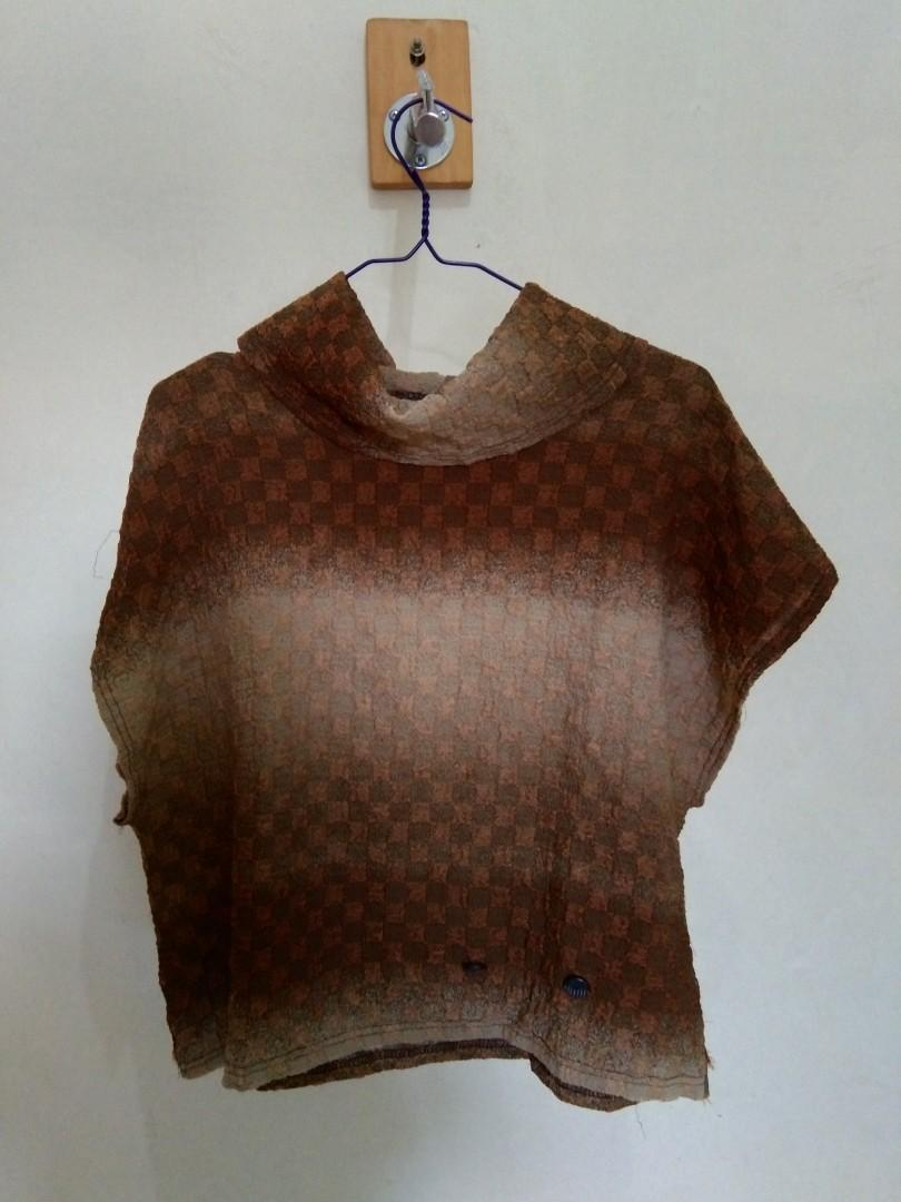 Brown Turtle neck Top