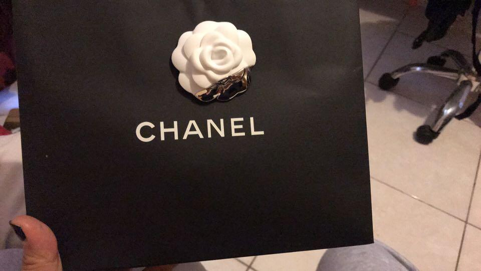 Chanel compact card and coin holder