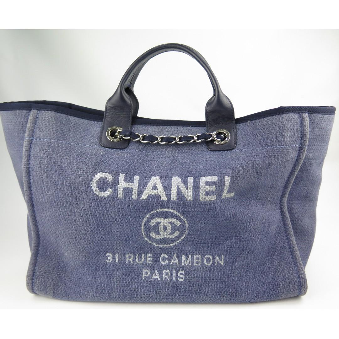 812c1249a2 Chanel Deauville L Chain Tote Bag, Luxury, Bags & Wallets, Handbags ...