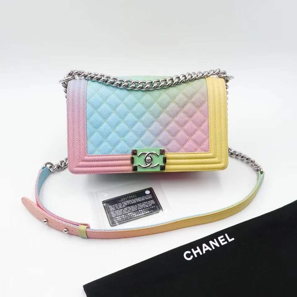 b1d6e3a25b95 Chanel Leboy Rainbow, Women's Fashion, Bags & Wallets, Handbags on ...