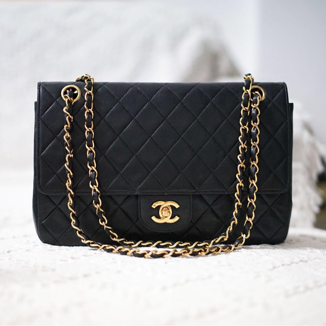 40f449a2daf644 Chanel Vintage Double Flap Bag w 24K Goldware, Luxury, Bags ...