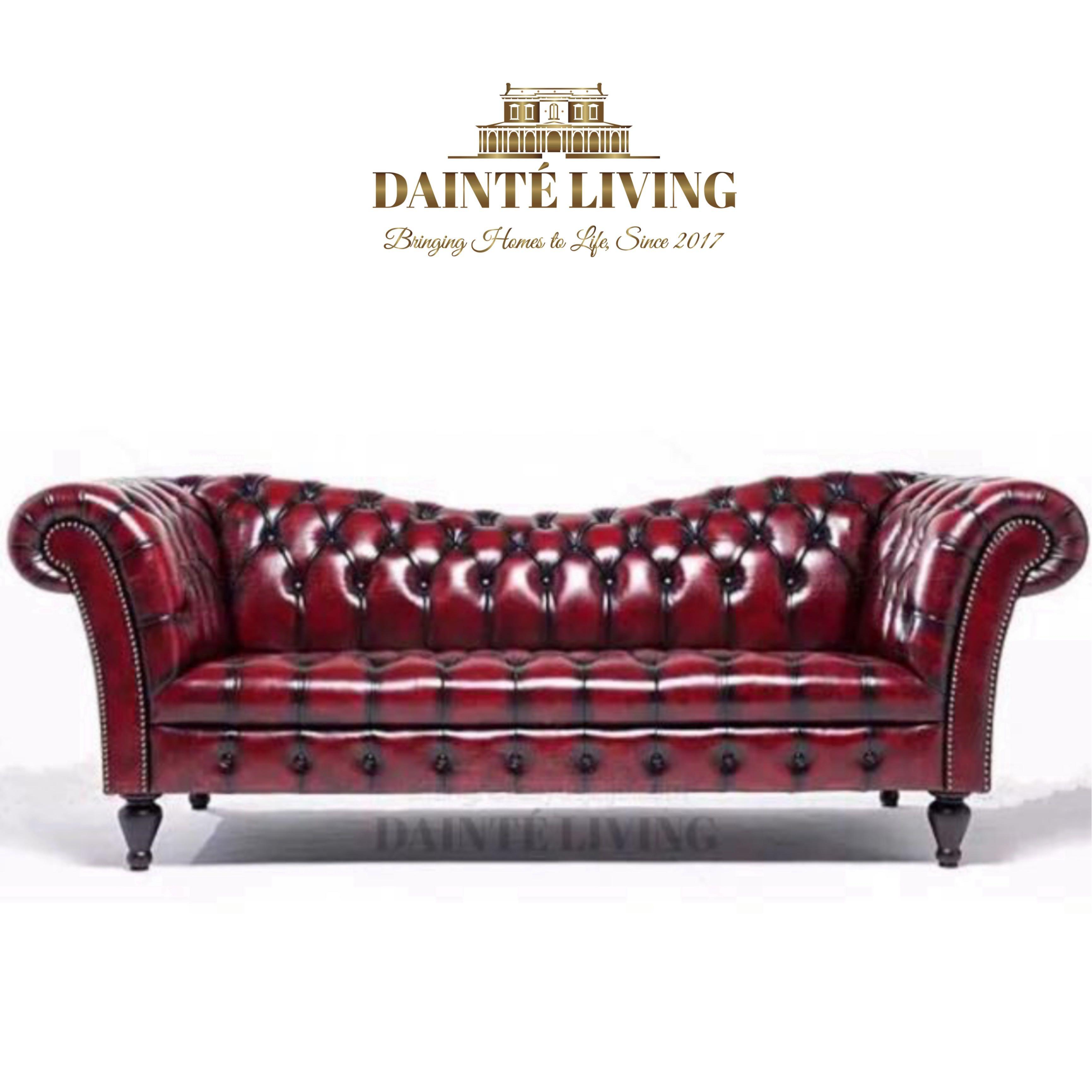 Classic Gentlemen American French Chesterfield Tufted Sofa