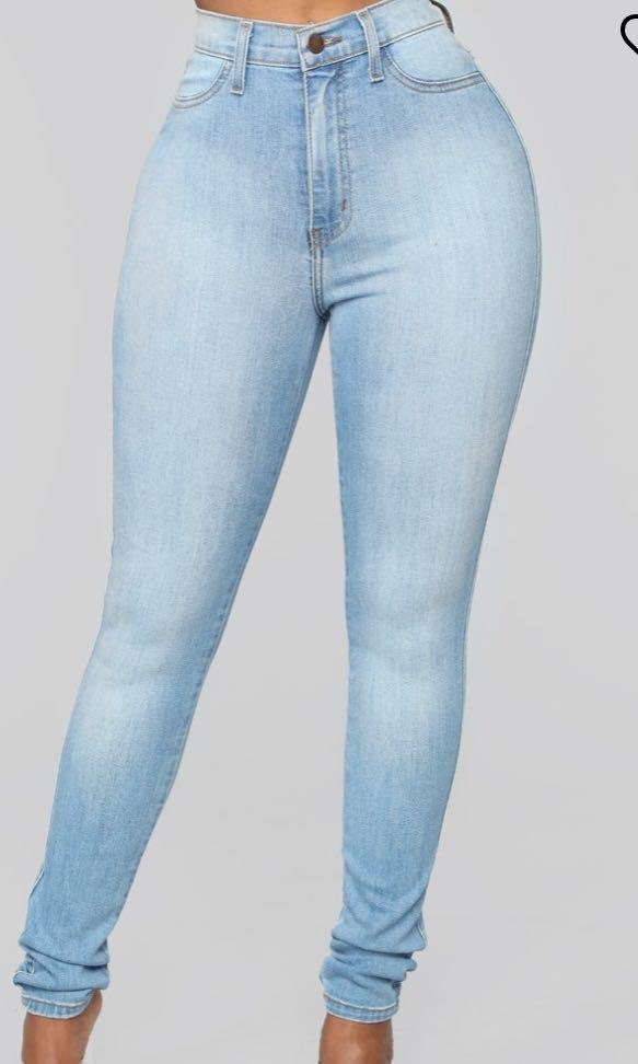 Classic high waisted jeans from Fashion Nova in light blue!