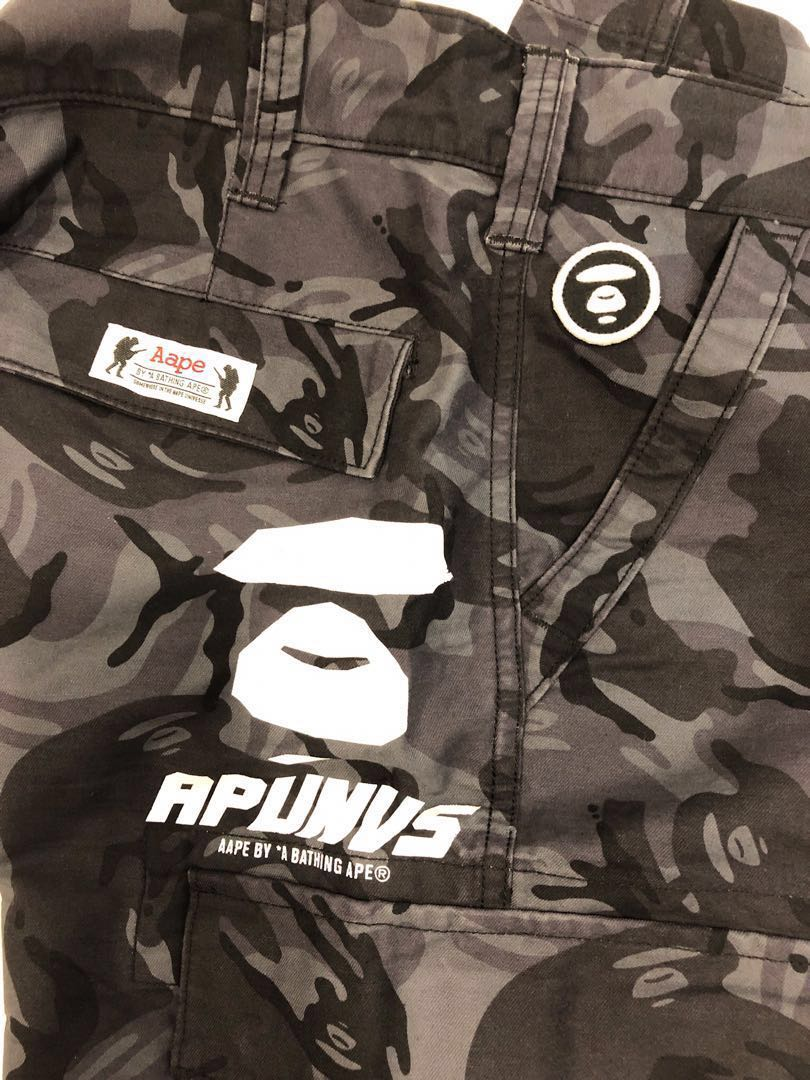 db3fae7126 Clearing - AApe pockets Cargo pants size XL, Men's Fashion, Clothes,  Bottoms on Carousell