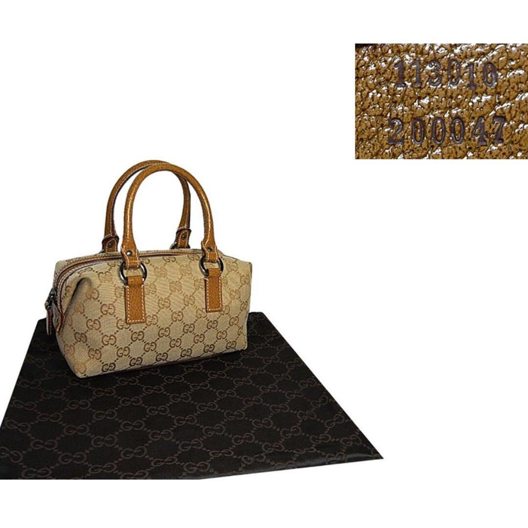b465487b81f2 Gucci 113010 Gold GG Mini Boston Tote Bag, Luxury, Bags & Wallets ...