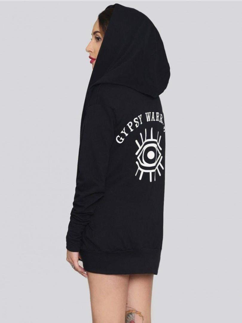 Gypsy Warrior Open Hoodie Cardigan Evil Eye