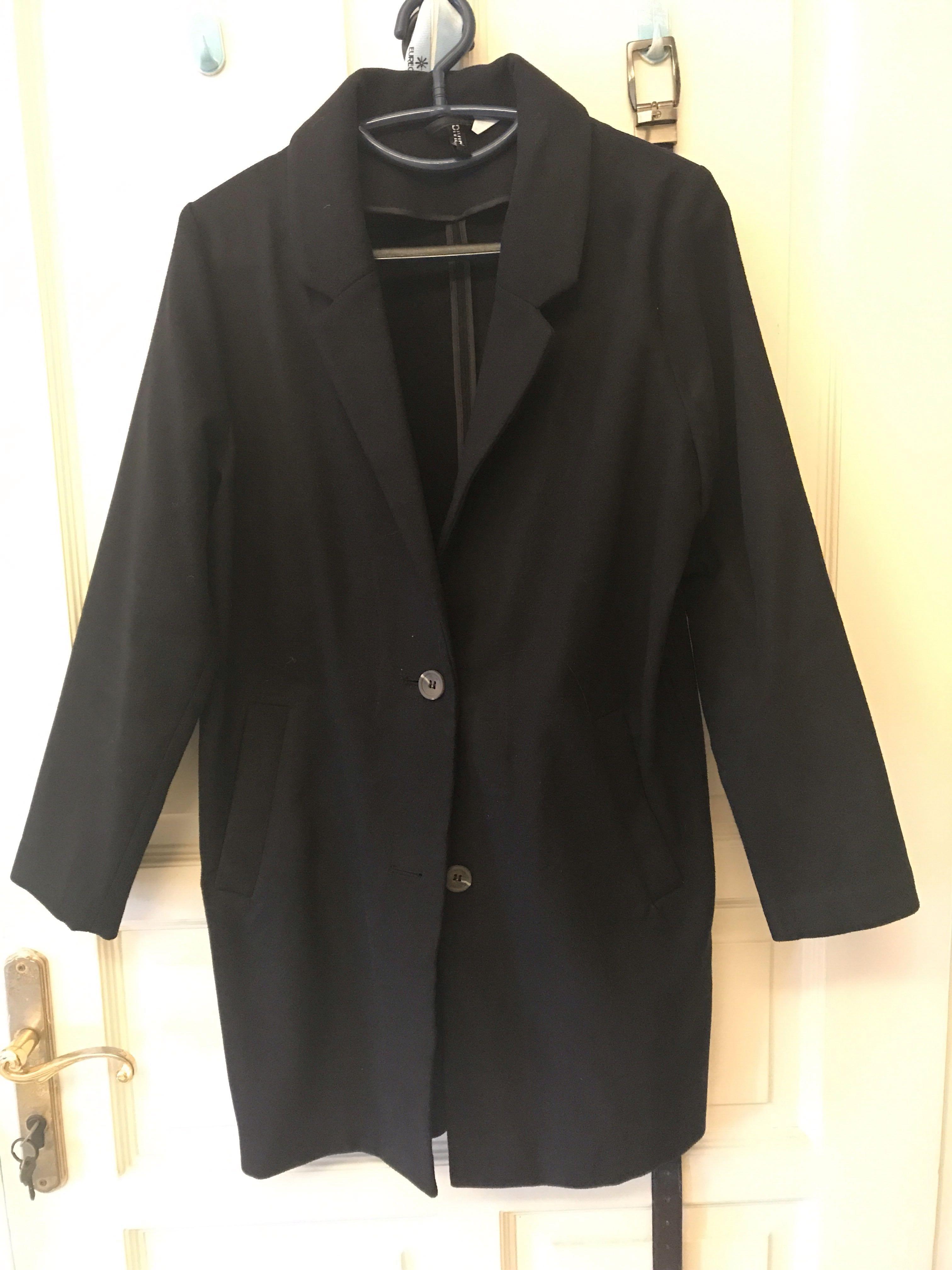 H&M Divided Black Winter Coat