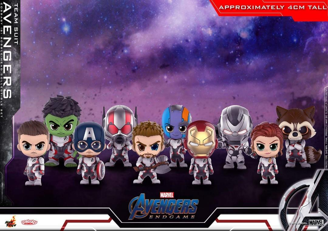 Hot Toys Avengers Endgame Team Suit Cosbaby Set Of 10 Misb Toys