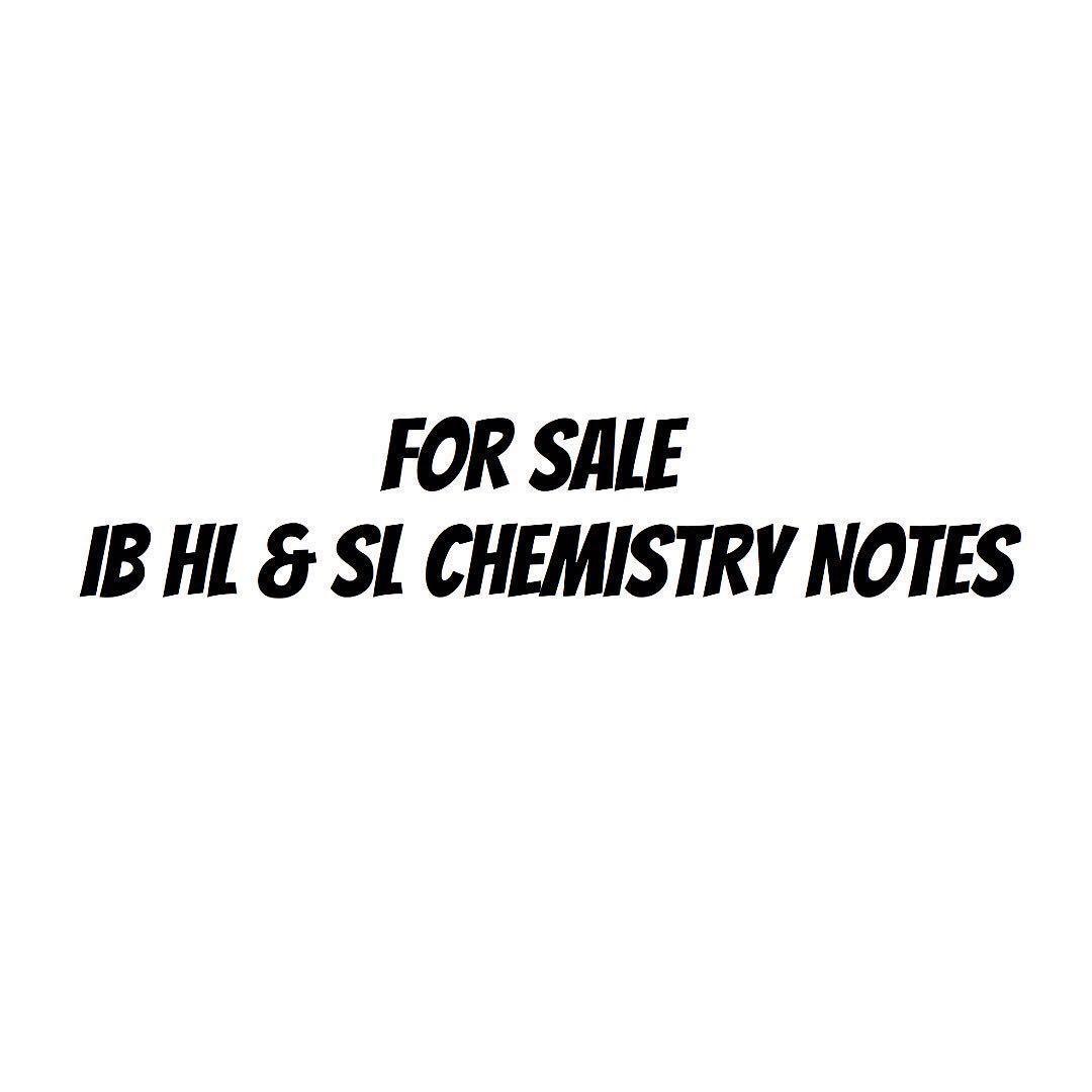 IB CHEMISTRY NOTES, Books & Stationery, Textbooks, Tertiary