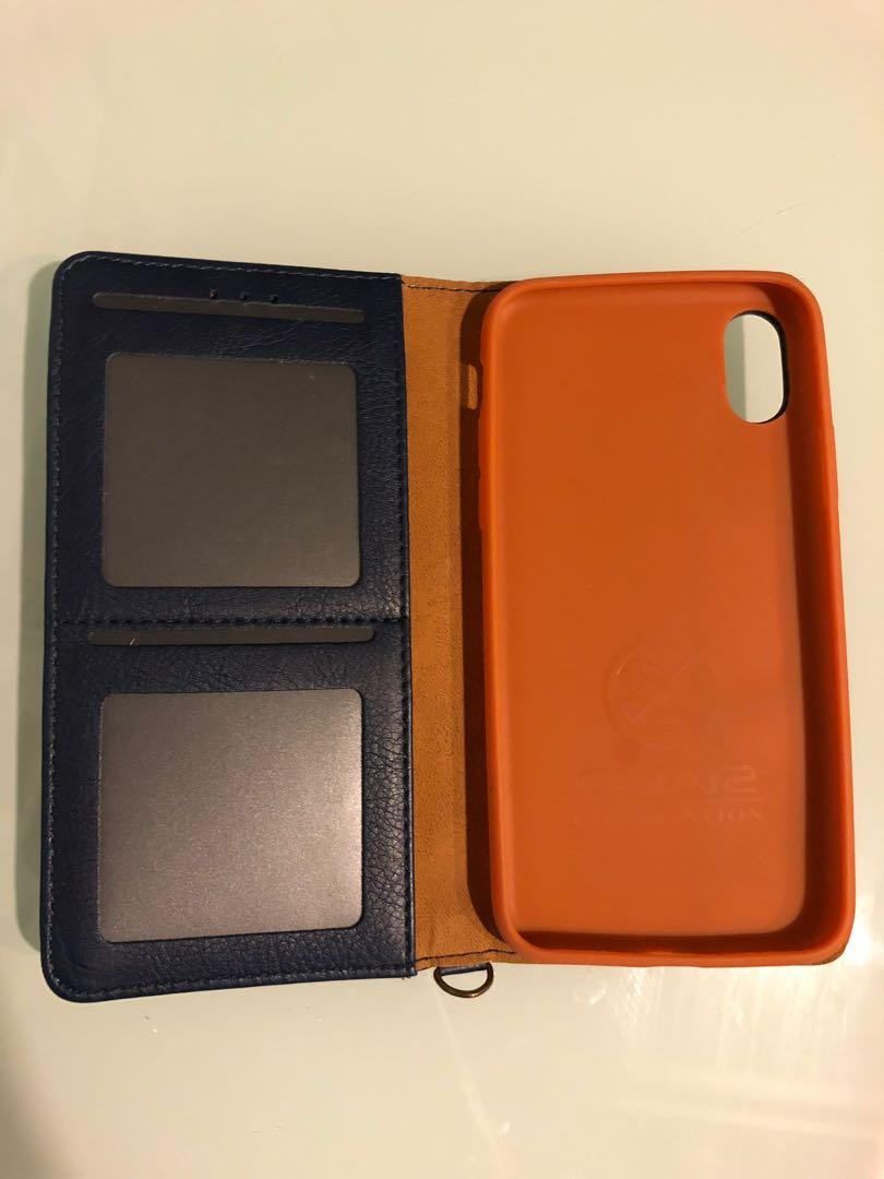 iPhone X leather case with keycard compartment