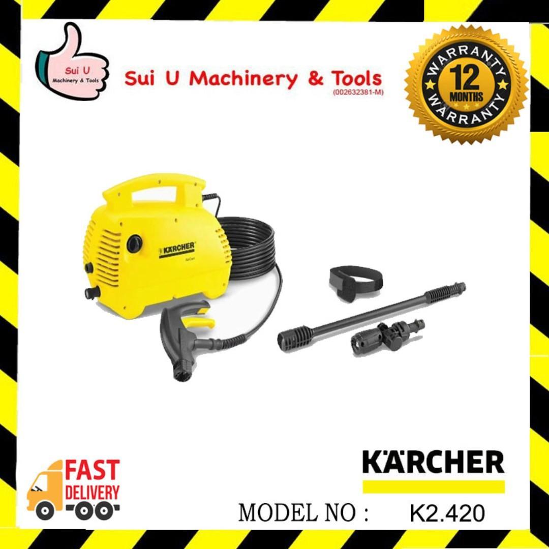 KARCHER K2.420 Air Cond High Pressure Washer 100bar 1.4kW