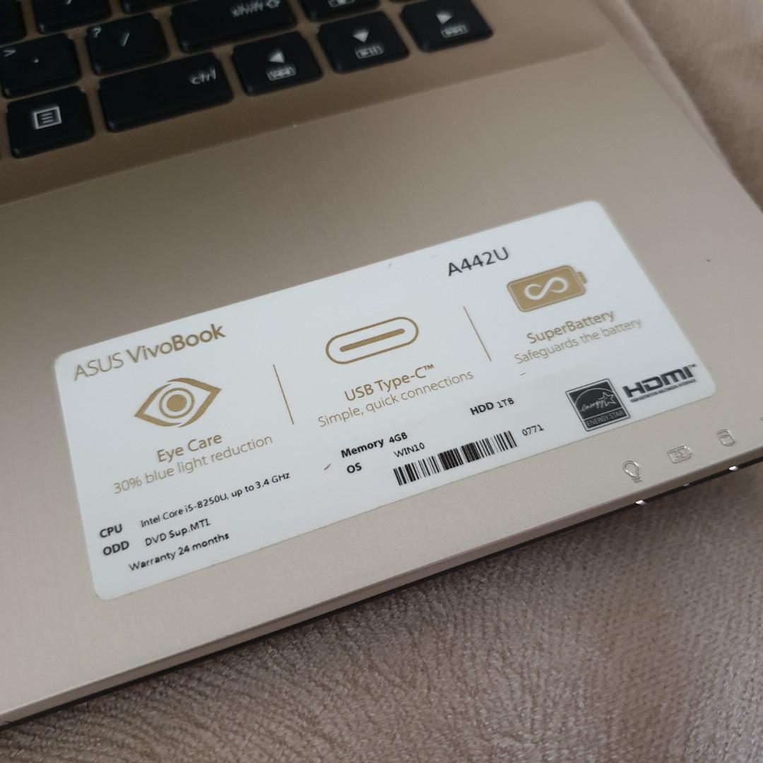 Laptop Asus Vivobook A442U i5 8th Gen Kondisi Gress Jarang Dipakai
