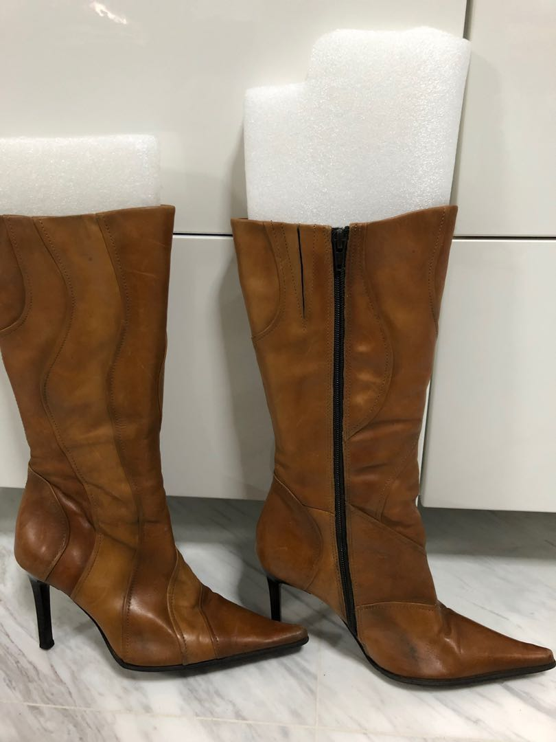 f20ff232182 Light brown leather boots by Mango (bundle deal applies!)