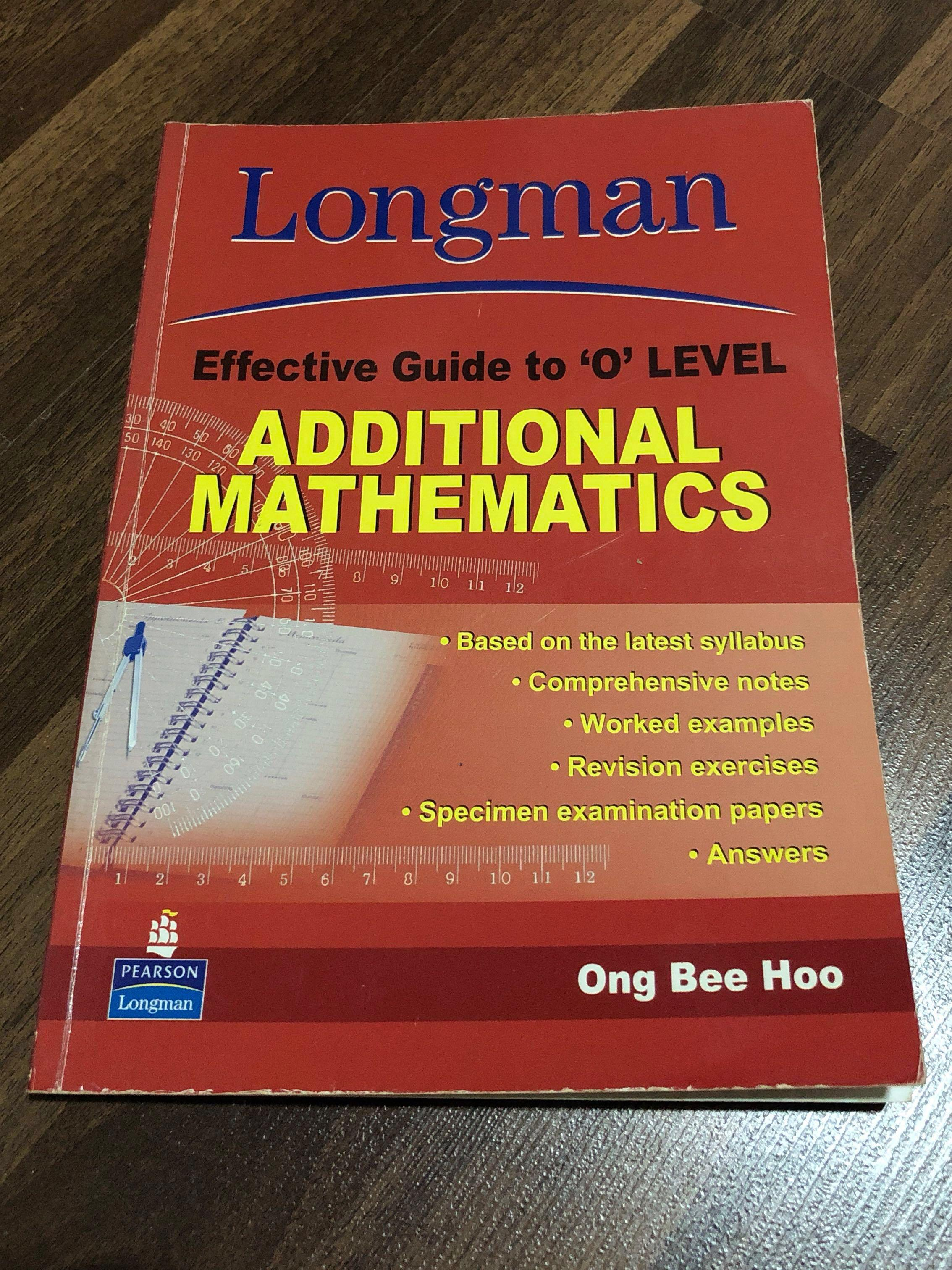 Longman effective guide to O level Additional Mathematics