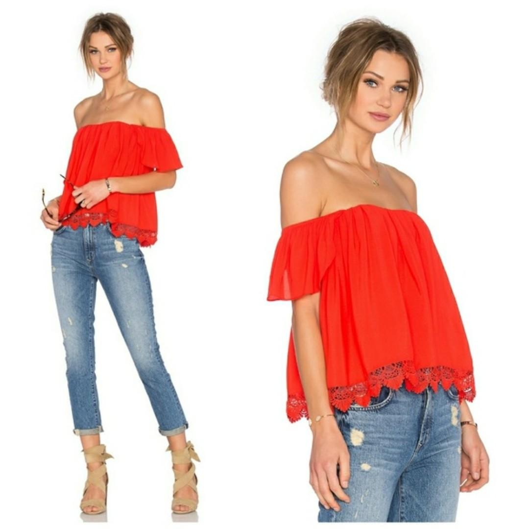 Lovers + Friends Life's a Beach Off the Shoulder Top