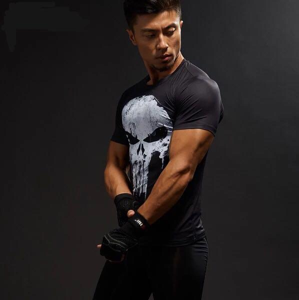 Marvel Punisher Compression Top (Replica)