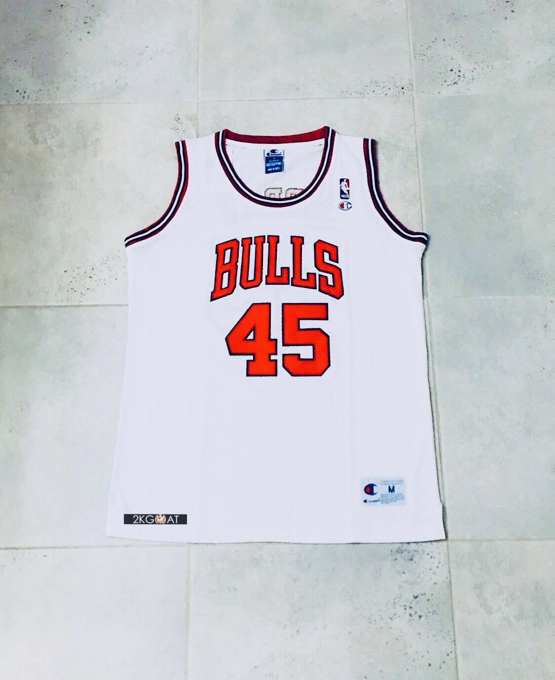 huge selection of 740b6 1a6d0 Michael Jordan 45 RARE NBA Basketball Jersey, Men's Fashion ...