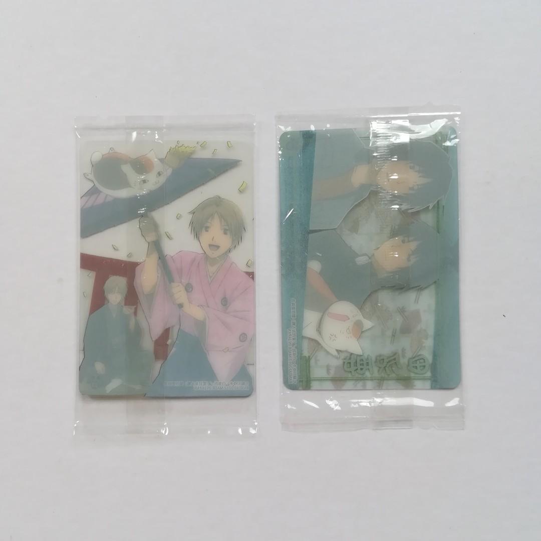 Natsume Yujinchou - Natsume Takashi, Madara (Nyanko-sensei), Natori Shuichi / Tanuma Kaname - Clear Visual Card / Clear Character Card