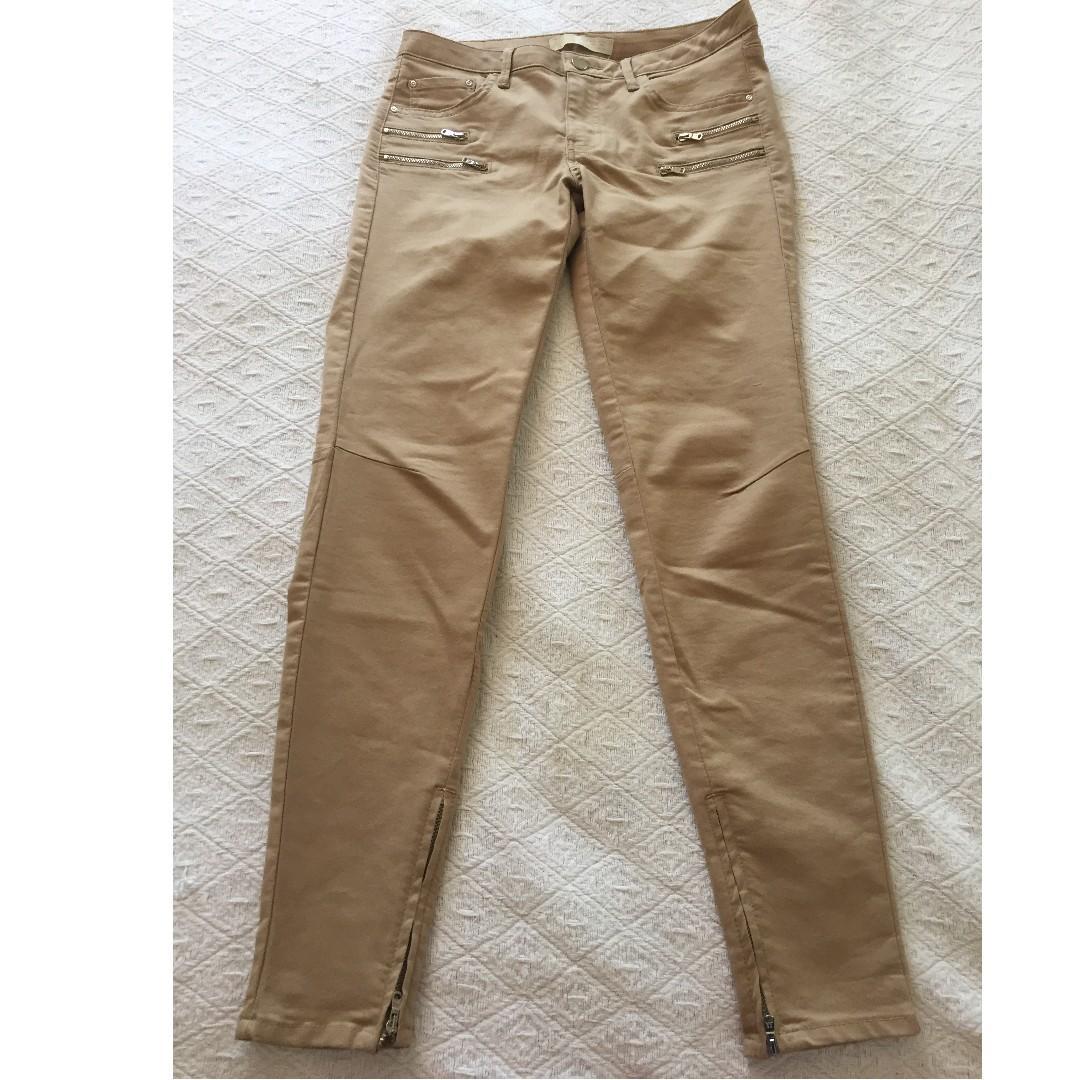 NEW Zara Basic Dept Z1975 Denim Pants in Tan | EUR 38 / US 6 / MEX 28 / UK+AU 10