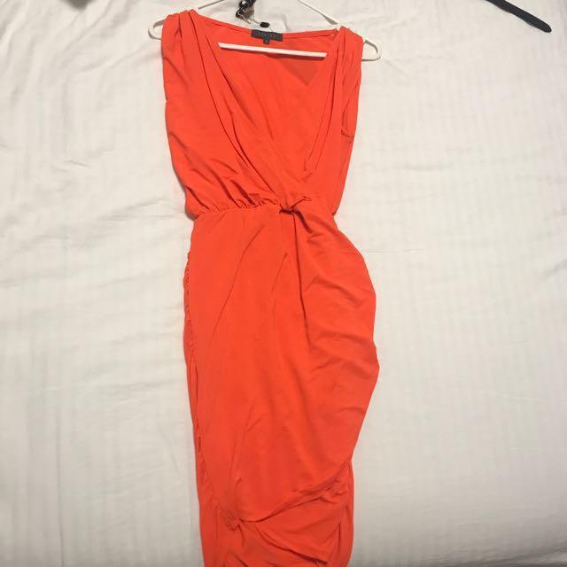 Orange sheike dress