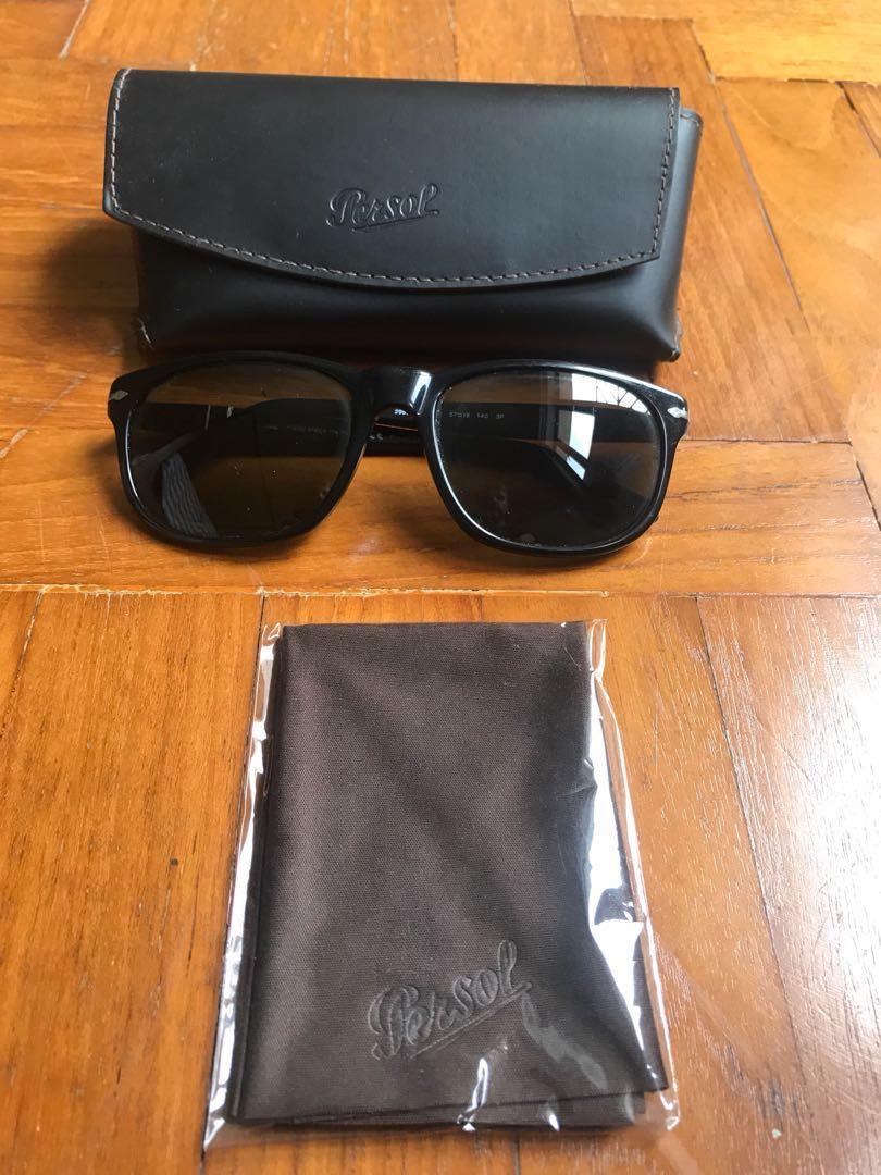 96d66f75e68d Persol Havana 57mm polarized sunglasses in black, Men's Fashion ...