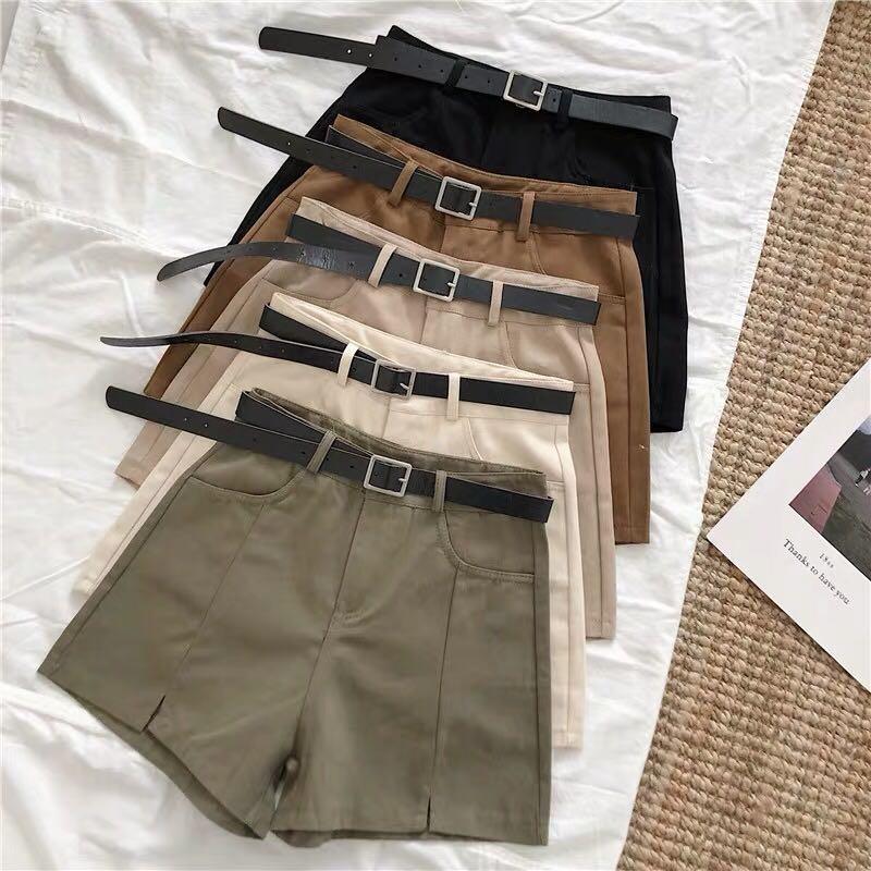 (PO) shorts with belt