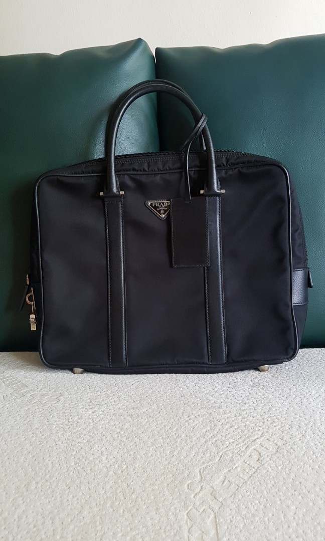 69cac3cb1db2 Prada laptop bag, Men's Fashion, Bags & Wallets, Briefcases on Carousell